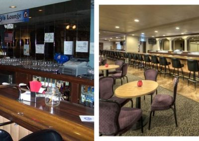 Elks West Bar Before-After